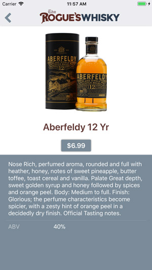 The Rogue's Whisky App